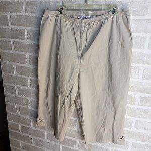 Women's Croft & Barrow tan size 2X Capri pants NWT